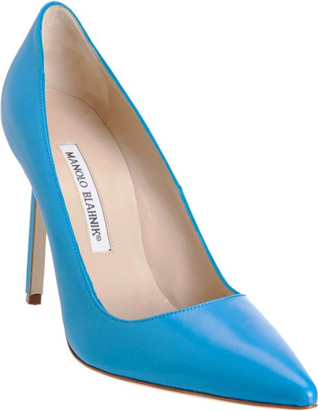 Manolo Blahnik Bb Pump  in Blue (turquoise)