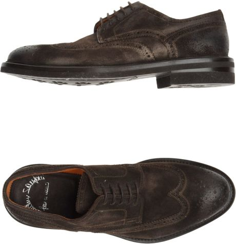 Santoni Laced Shoes in Brown for Men - Lyst