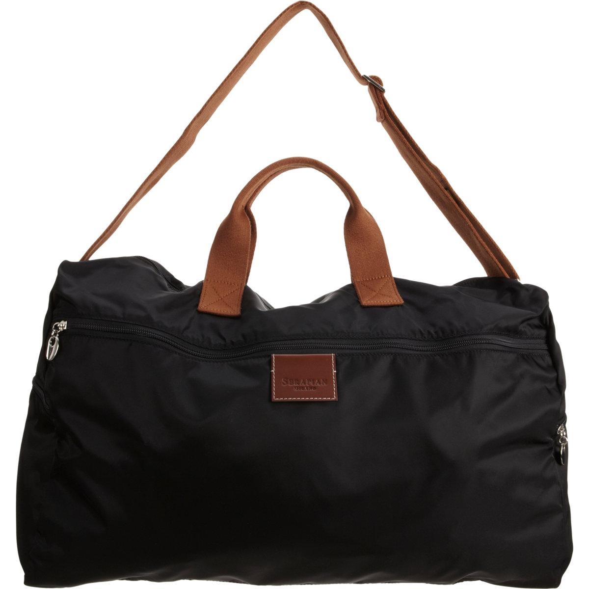 serapian packable duffel bag in black for lyst