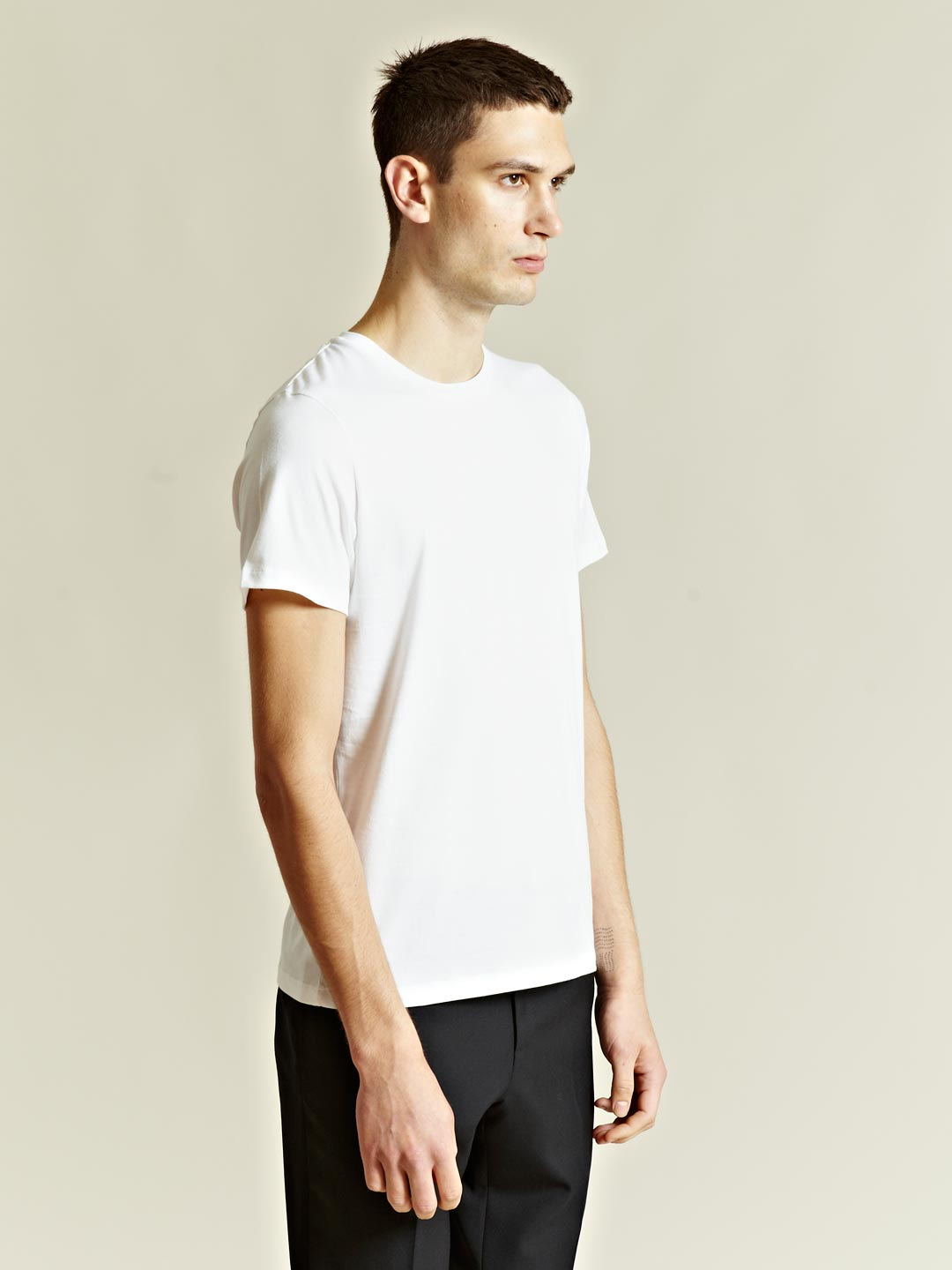 jil sander mens crew neck tshirt in white for men lyst. Black Bedroom Furniture Sets. Home Design Ideas