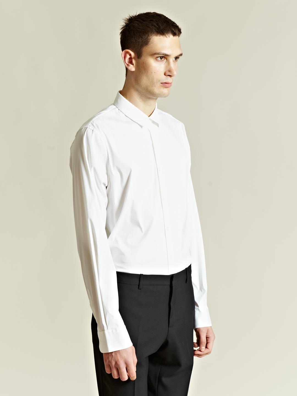 Lyst jil sander mens lava shirt in white for men for Jil sander mens shirt
