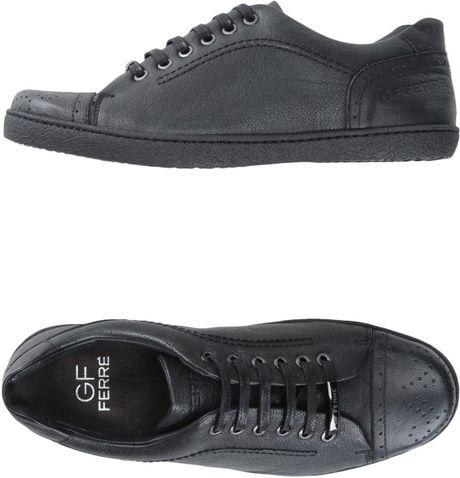 gianfranco ferr 233 sneakers in black for lyst