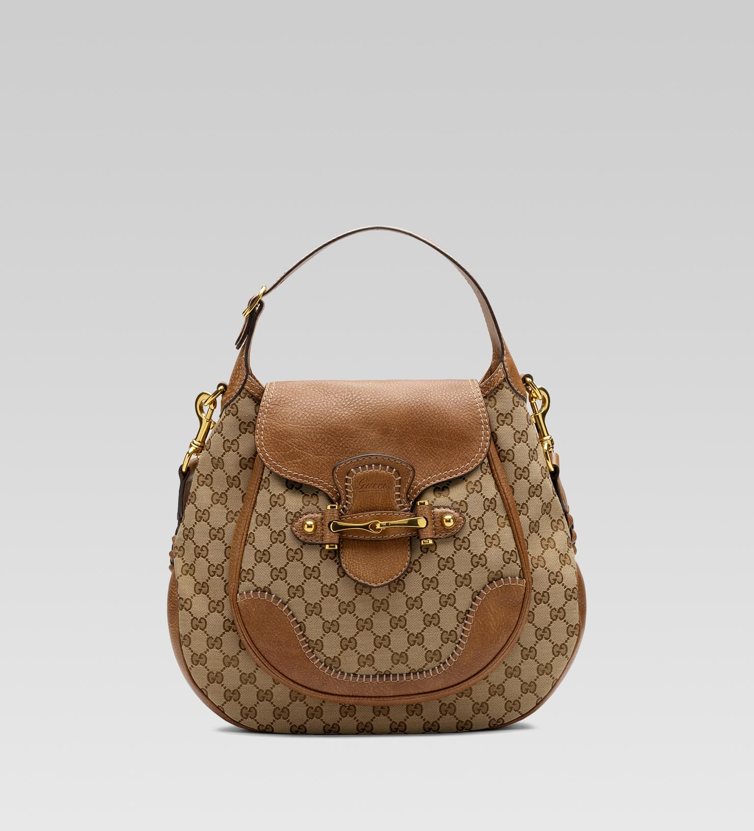 Gucci New Pelham Large Shoulder Bag With Horsebit Detail