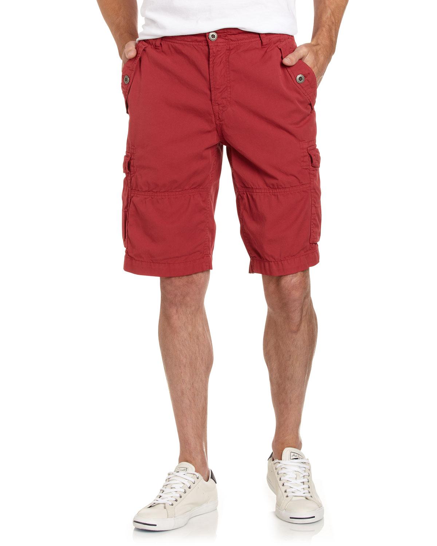 Original Paperbacks Daytona Cargo Shorts In Red For Men
