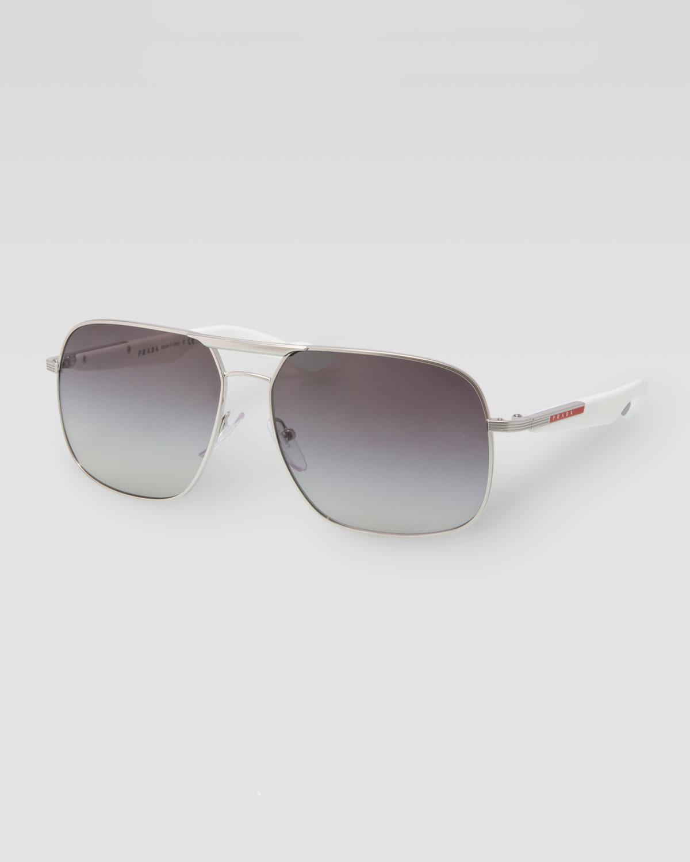 2df7d8acdfd White Prada Aviator Sunglasses « Heritage Malta