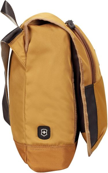 Victorinox Flapover Day Bag In Brown For Men Amber Lyst
