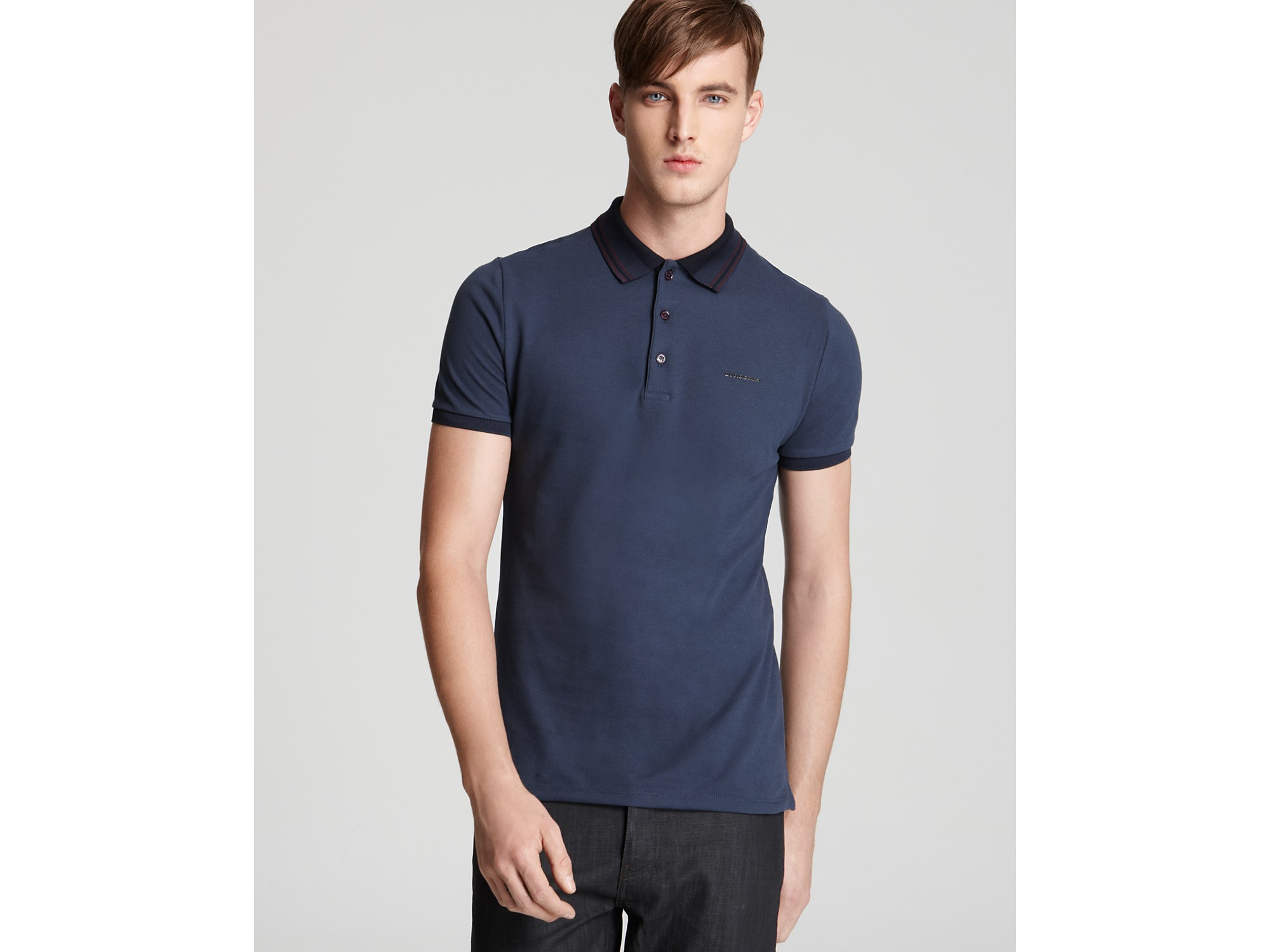 9e89982aa7b9 Lyst - Burberry London Adler Slim Fit Polo in Blue for Men