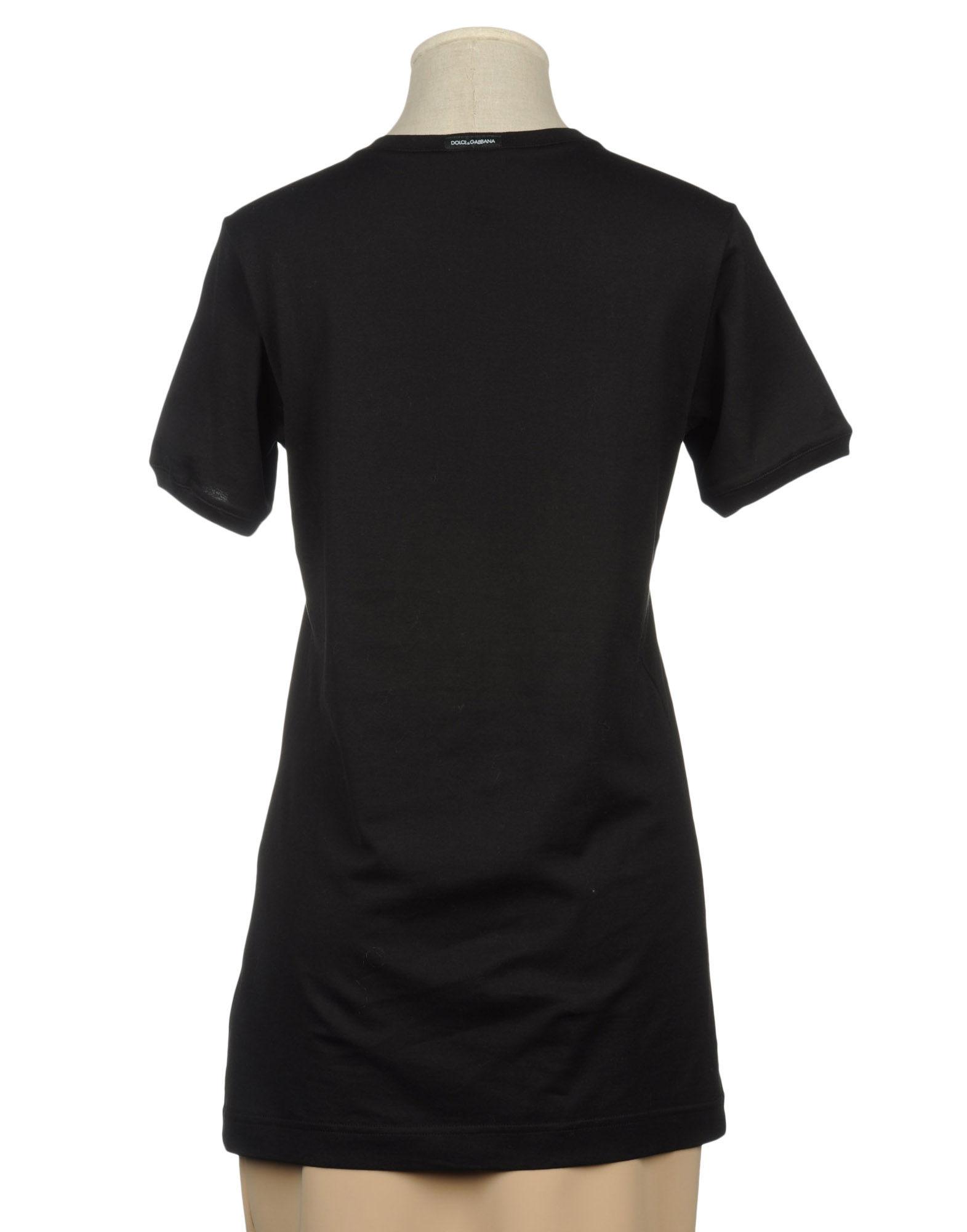 Dolce gabbana t shirt in black lyst for Dolce gabbana t shirt women