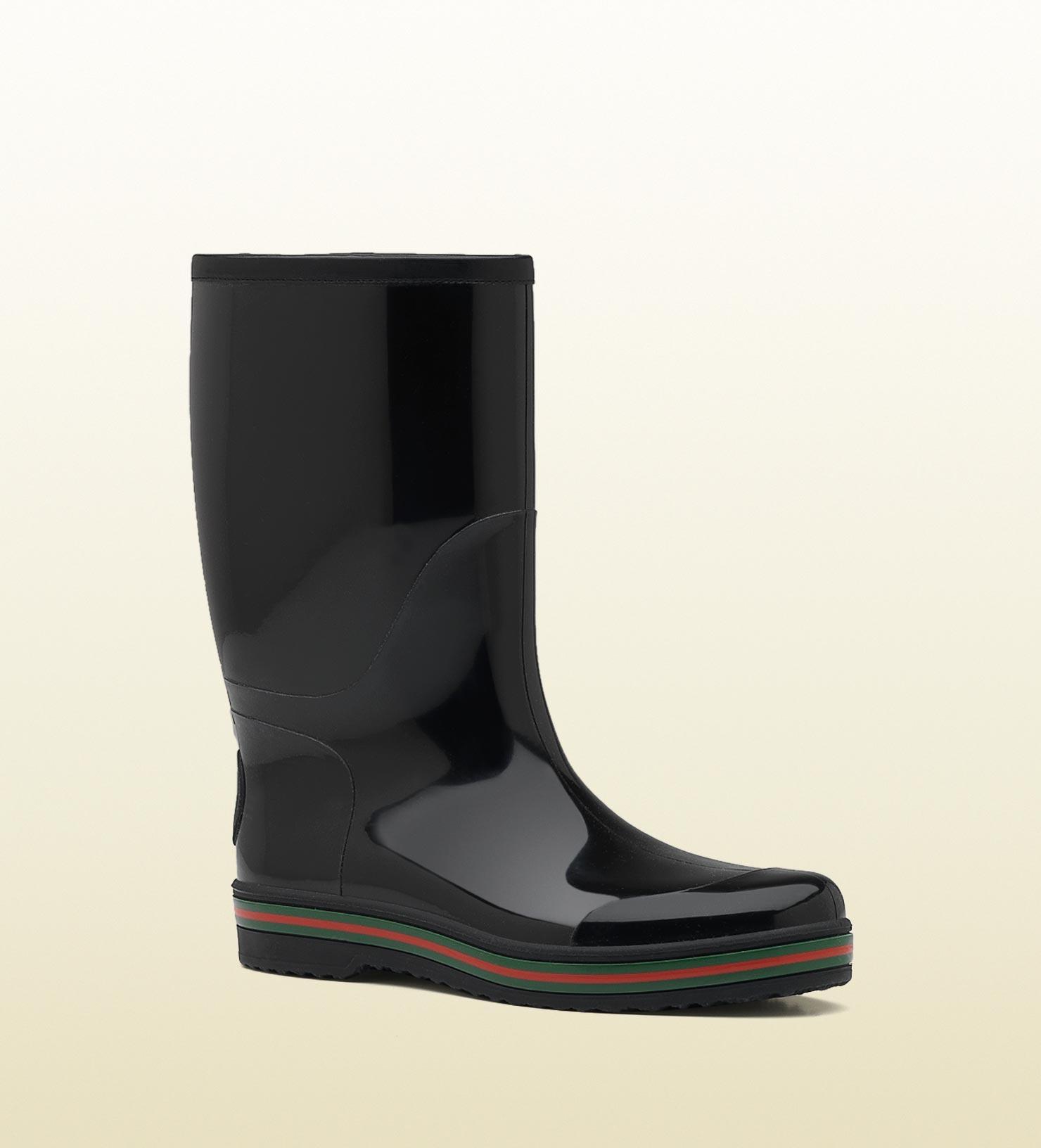 Gucci Rain Boot in Black for Men | Lyst