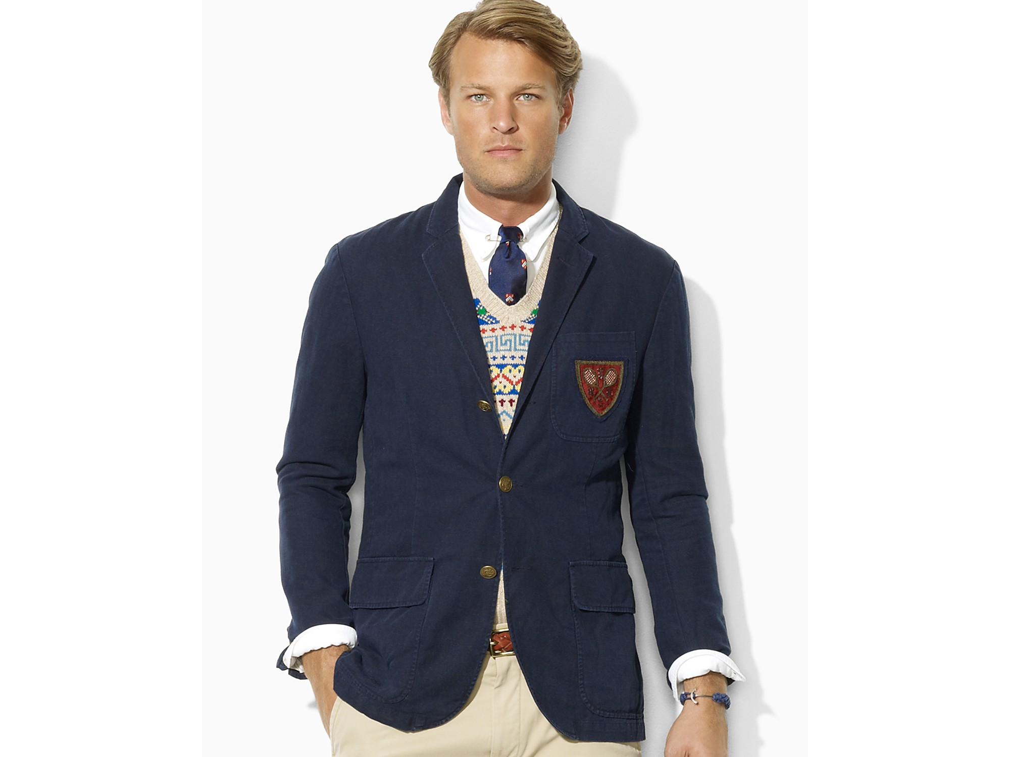 02038ca7 Ralph Lauren Slim Fit Oxford Shirt Navy - Nils Stucki Kieferorthopäde