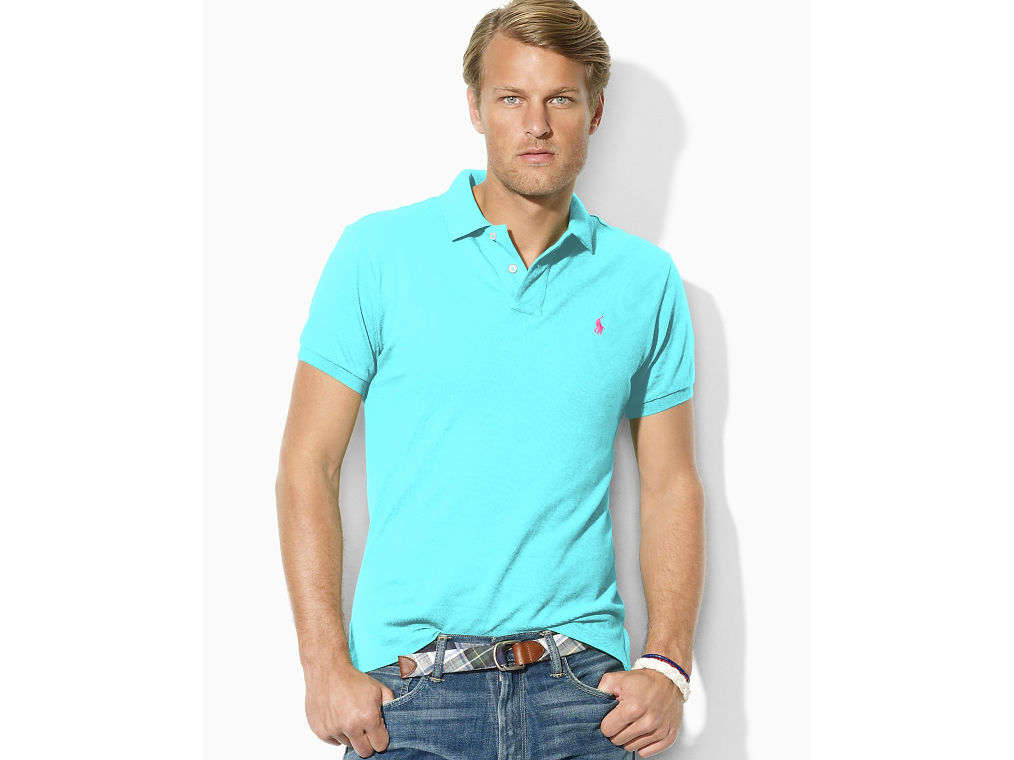 Ralph Lauren Big Blue Pony Breathable Red Short Sleeved Polo