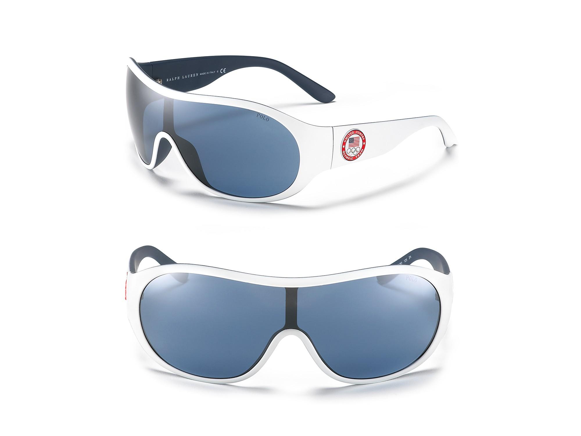 Ralph Lauren Sunglasses Blue  polo ralph lauren olympic shield sunglasses in blue for men lyst