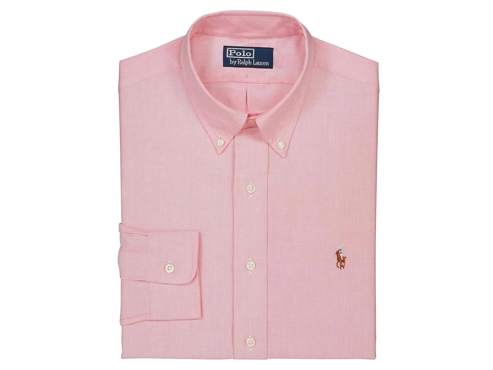 02b8b39b Ralph Lauren Pink Customfit Oxford Dress Shirt for men