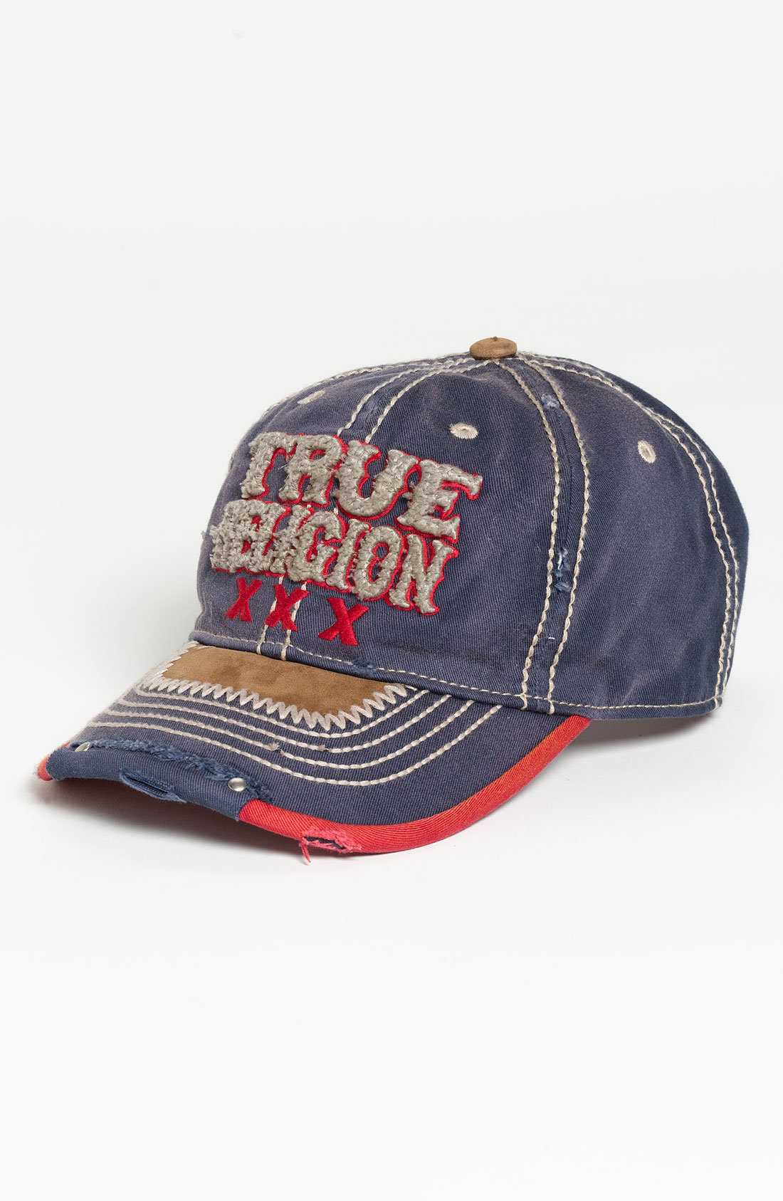 true religion xxx baseball cap in blue for men navy lyst. Black Bedroom Furniture Sets. Home Design Ideas