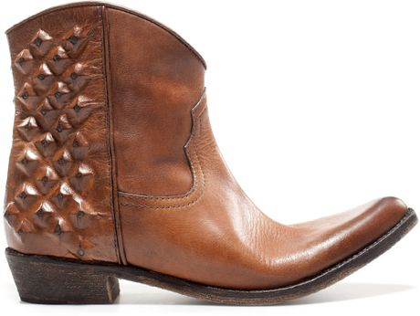 zara boots s zara ankle boots leather boots lyst