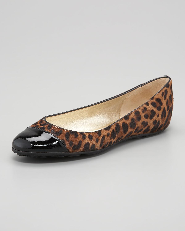 jimmy choo whirl leopardprint ballerina lyst. Black Bedroom Furniture Sets. Home Design Ideas