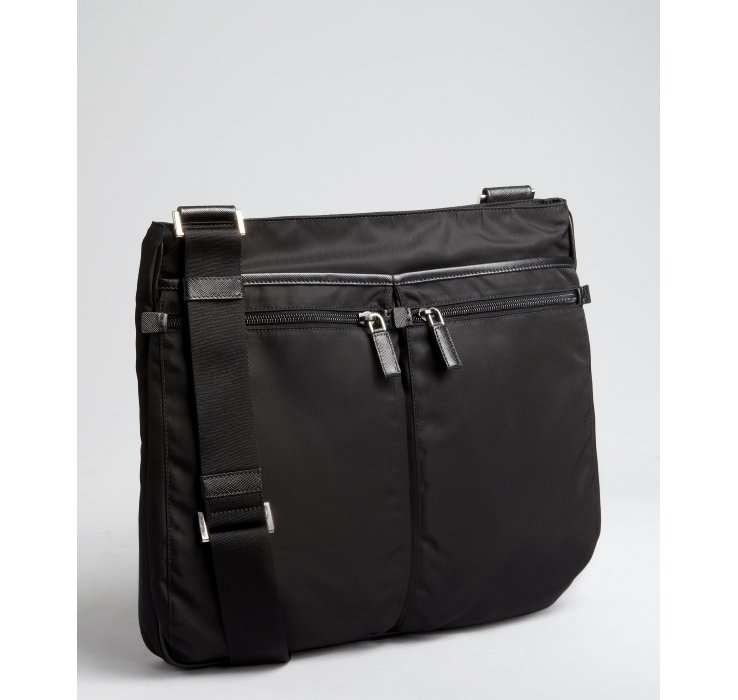 ... discount code for lyst prada black nylon multipocket messenger bag in  black for men 6385c cf08b ff0f1d4e20cc5
