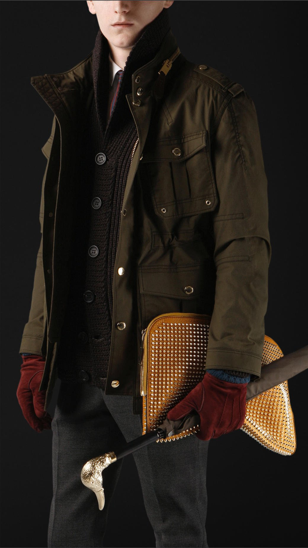 0b910aff8 Burberry Prorsum Brown Waxed Cotton Field Jacket for men