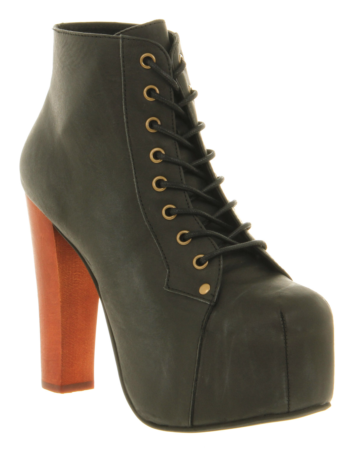 jeffrey campbell ankle boots in black lyst. Black Bedroom Furniture Sets. Home Design Ideas