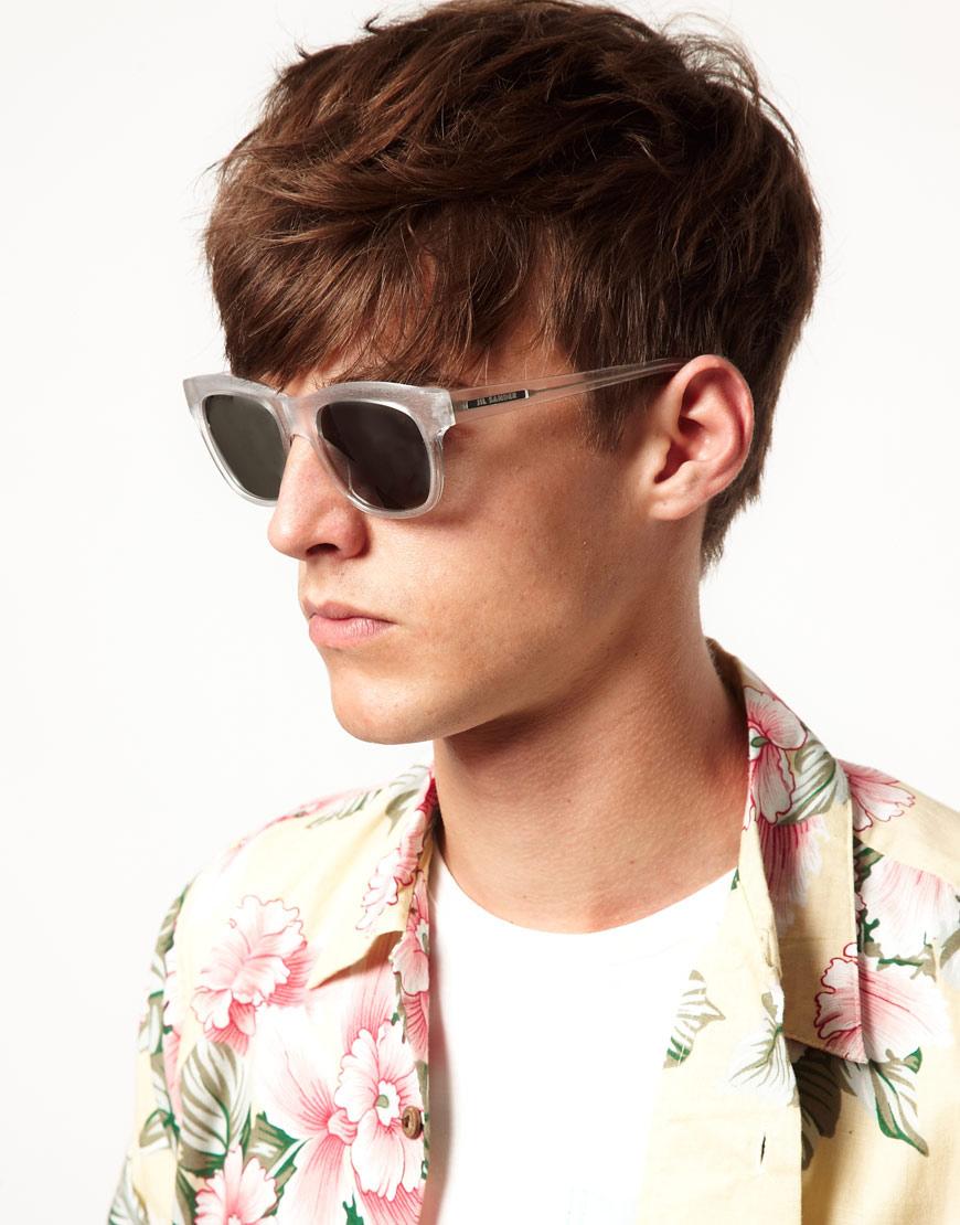 Lyst Jil Sander Wayfarer Sunglasses In White For Men