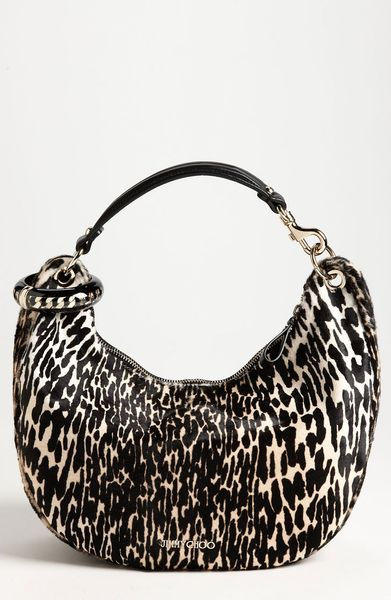 Jimmy Choo Solar Calf Hair Hobo in Animal (natural)