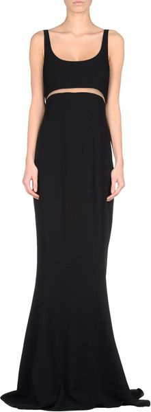 Michael Kors Long Dress in Black - Lyst