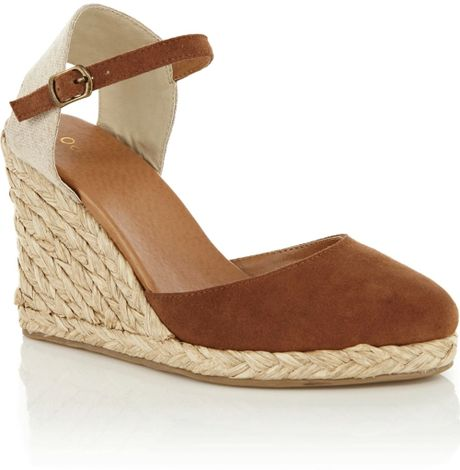 Oasis Closed Toe Espadrille In Brown Tan Lyst