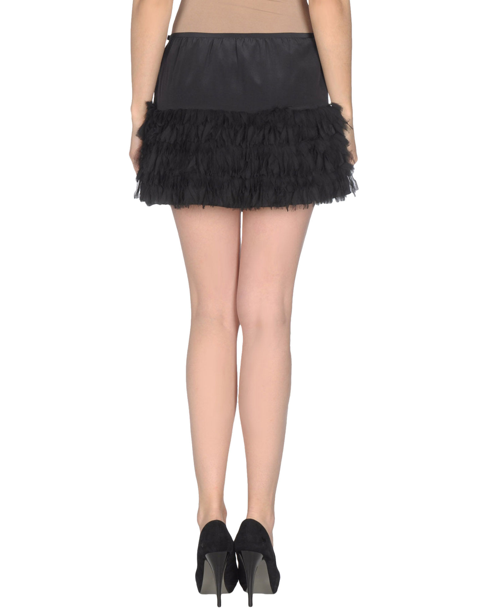 patrizia pepe mini skirt in black lyst. Black Bedroom Furniture Sets. Home Design Ideas