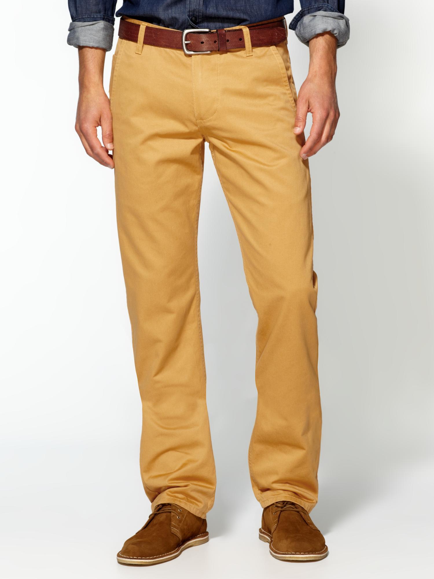 yellow khaki pants - Pi Pants