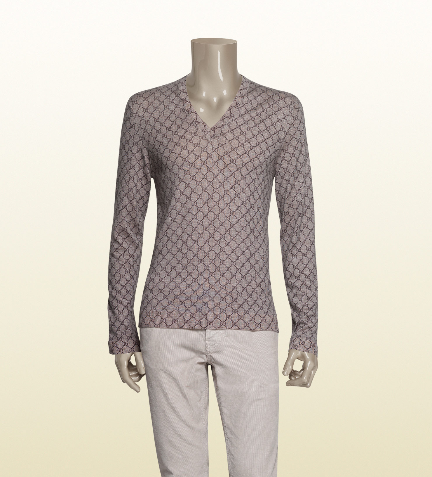 0023f64e7 Gucci Print Sweater in Natural for Men - Lyst
