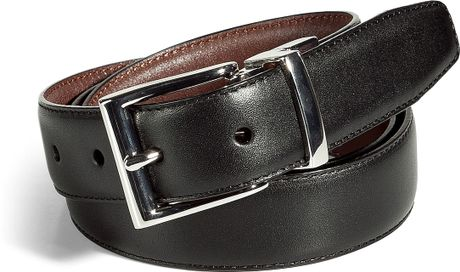 polo ralph black and brown reversible leather belt
