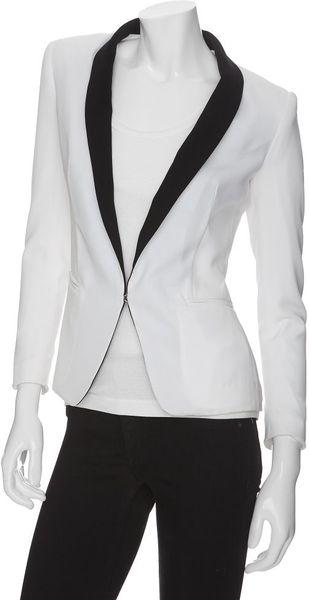 Rag & Bone Exclusive Sliver Colorblock Tuxedo Blazer in White (020) - Lyst