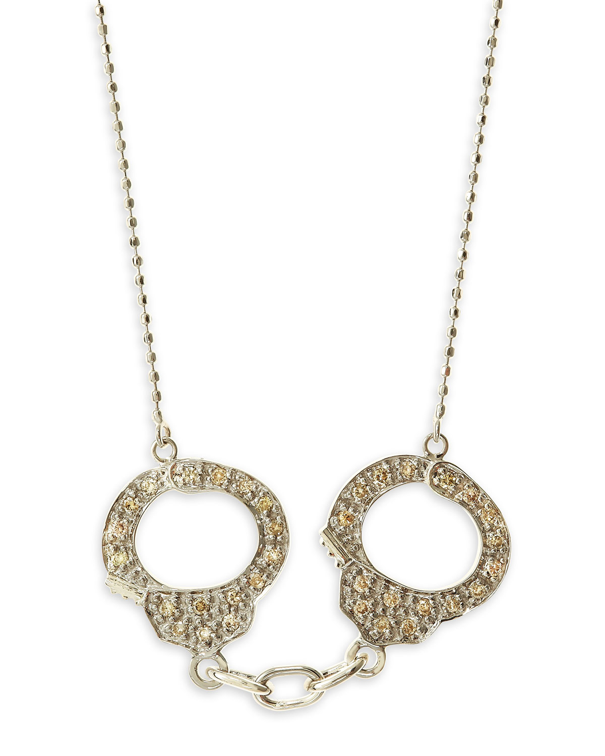 sydney evan handcuff necklace white gold in gold