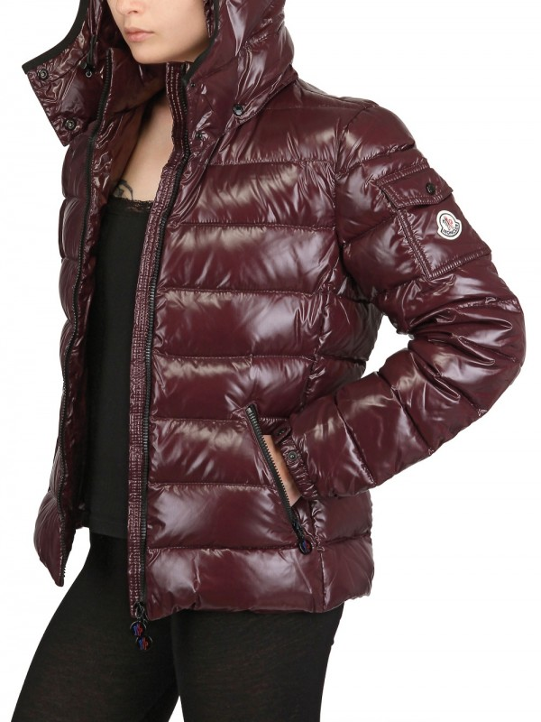 d780a2332 Moncler Purple Bady Hooded Shiny Nylon Down Jacket