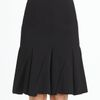 Donna Karan New York Spiral Pleated Skirt in Black - Lyst