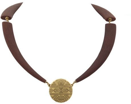 House Of Harlow Engraved Coin Collar Necklace in Gold - Lyst