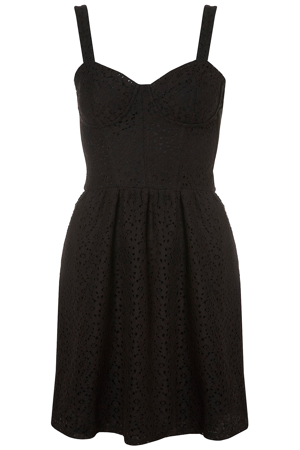 Lyst Topshop Lace Corset Flippy Tunic Dress In Black