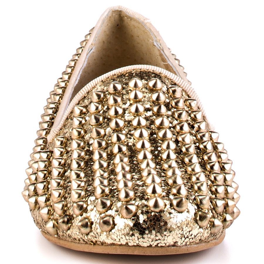 34ab6c101d7 Shoeniverse: Steve Madden Studlyy studded flat loafers in gold