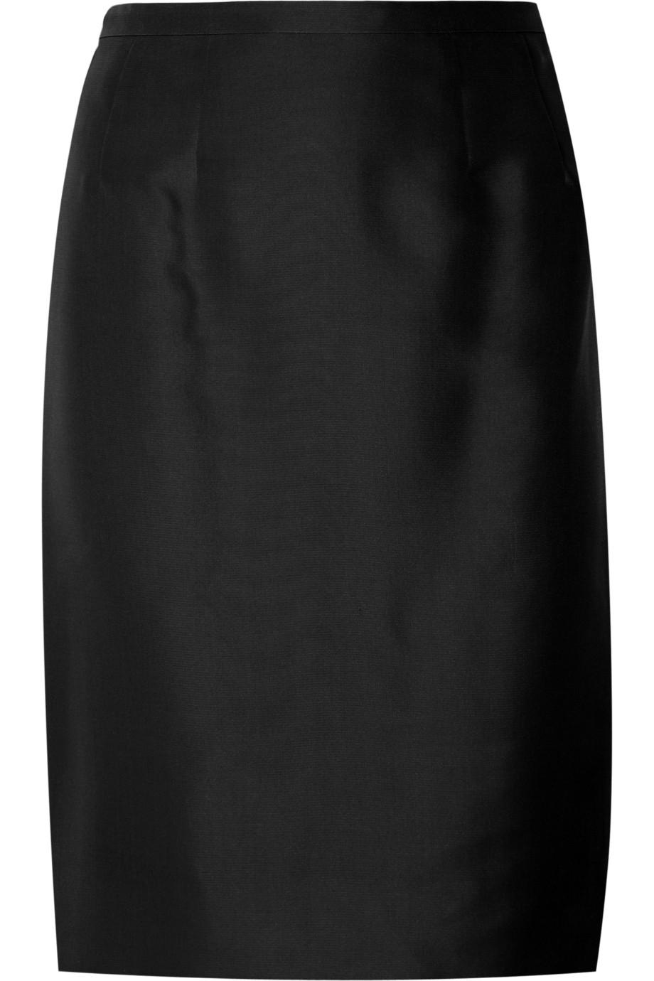 Valentino Woven Silk Pencil Skirt in Black | Lyst