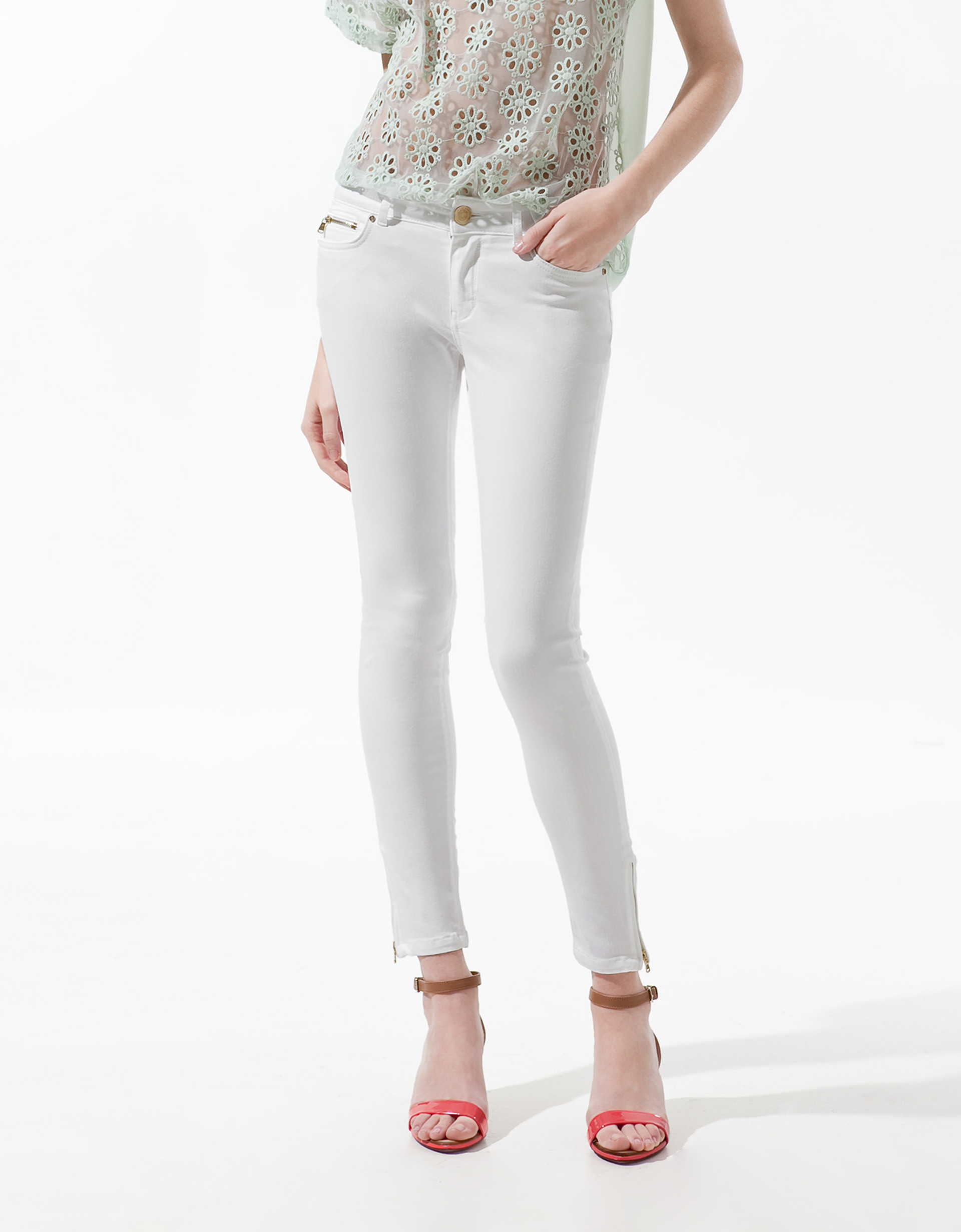 Shop white denim skinny jeans at Neiman Marcus, where you will find free shipping on the latest in fashion from top designers.