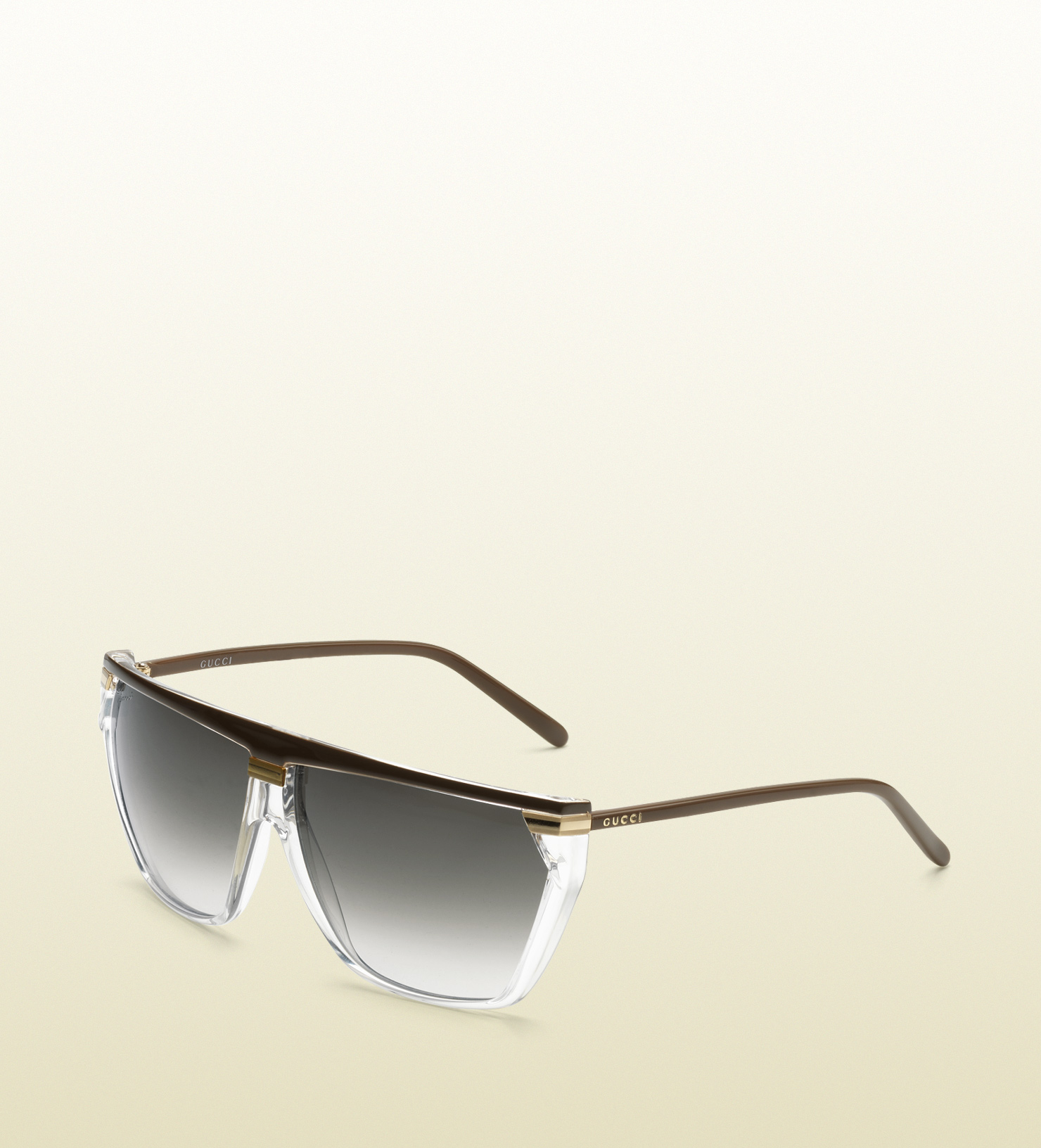 5535bc22435 Lyst - Gucci Medium Rectangle Frame Sunglasses with Gucci Logo On Temples in  Black