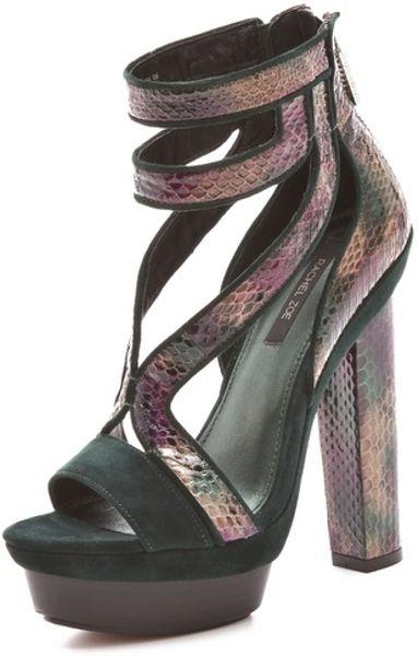 Rachel Zoe Payton High Heel Sandals in Brown (vert)