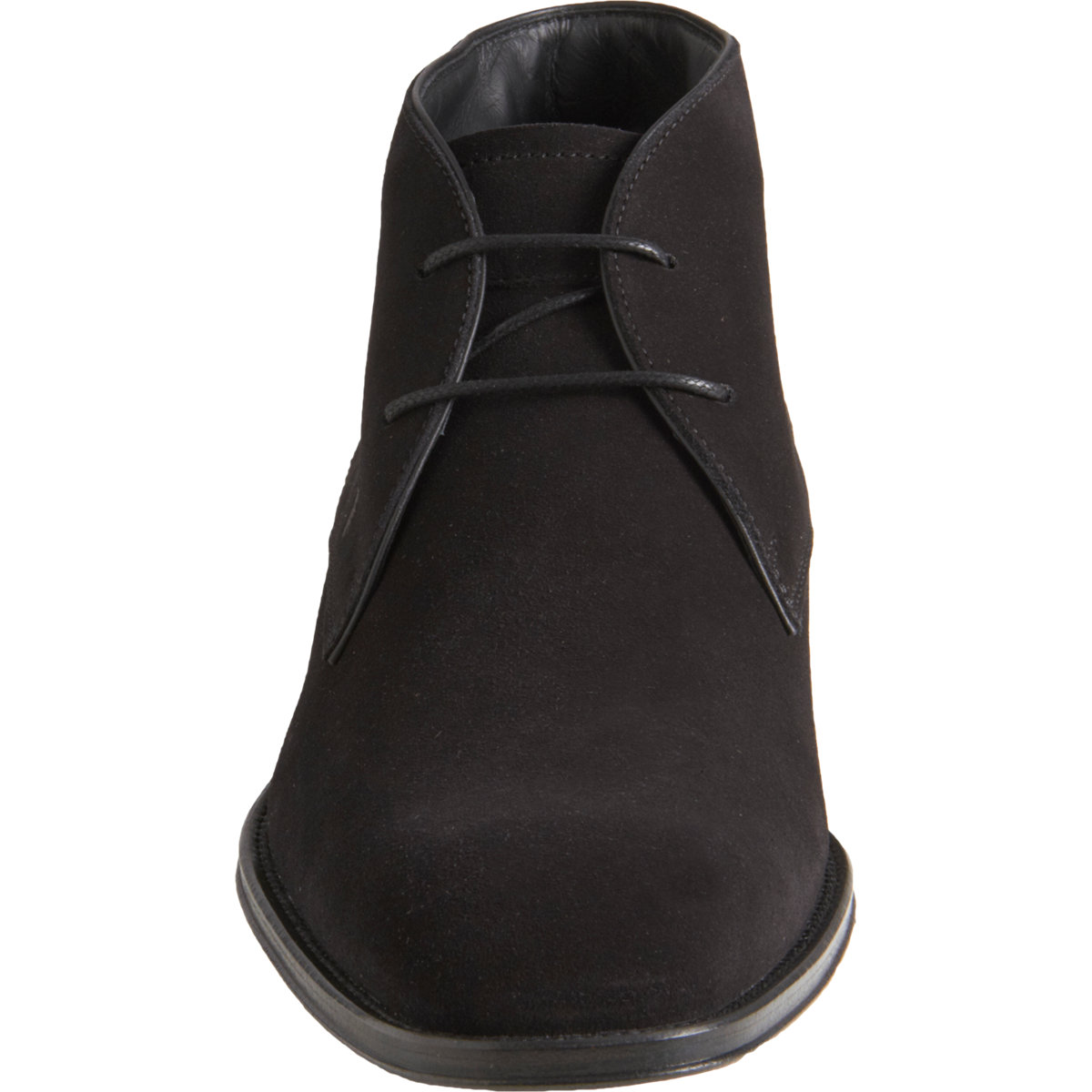 Lyst Tod S Square Toe Chukka In Black For Men