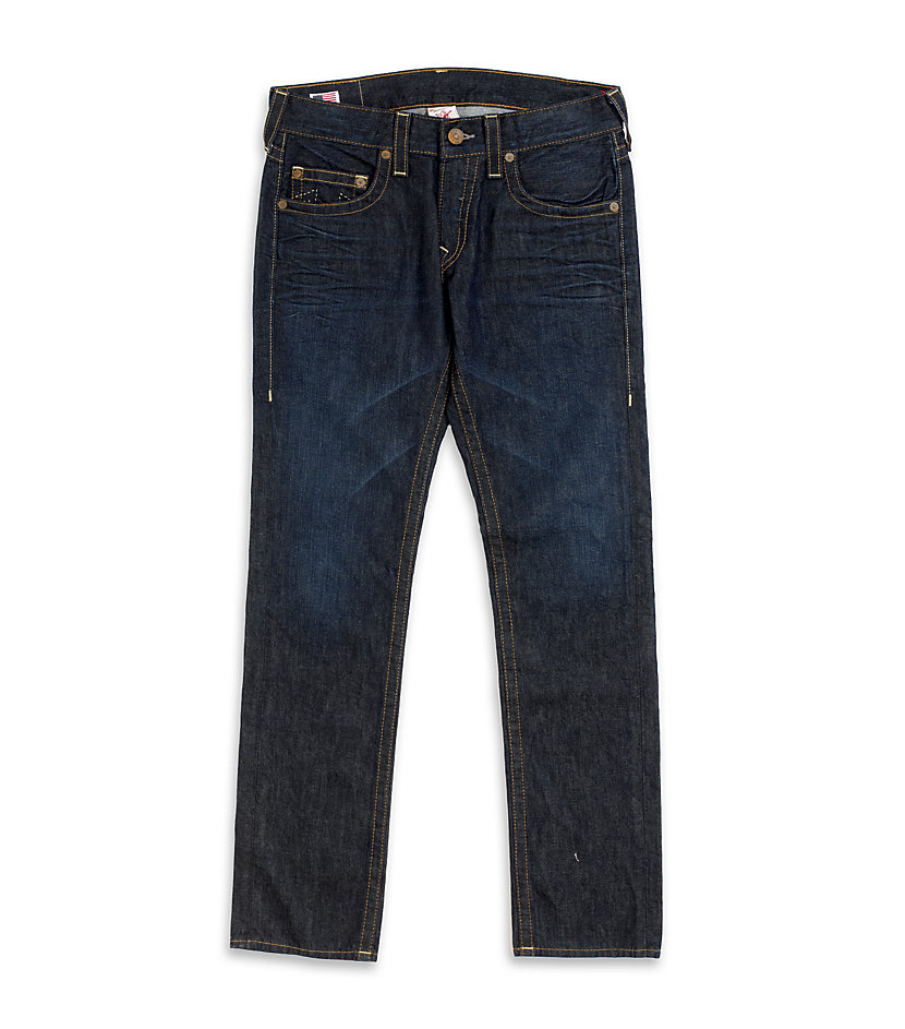true religion rocco skinny jeans in blue for men denim. Black Bedroom Furniture Sets. Home Design Ideas
