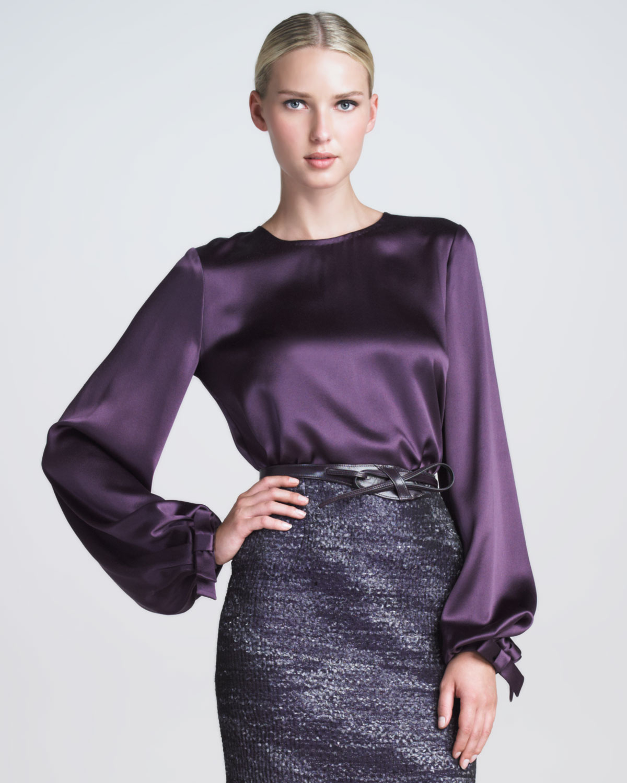 Блузка Фиолетовая Купить