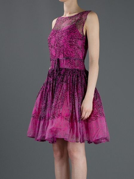 Red Valentino Flared Dress In Pink Lyst