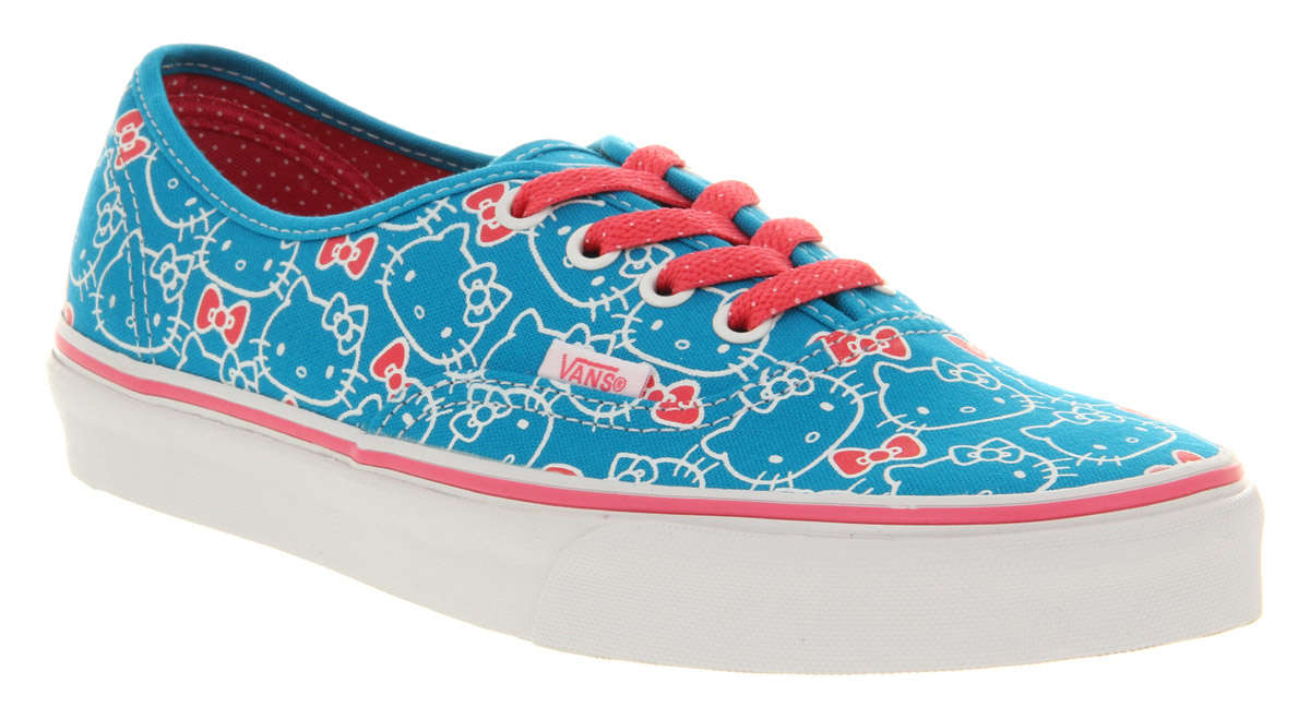 675ef4282b Vans Authentic Hello Kitty Hawaiian Ocean Hot Pink in Blue for Men ...