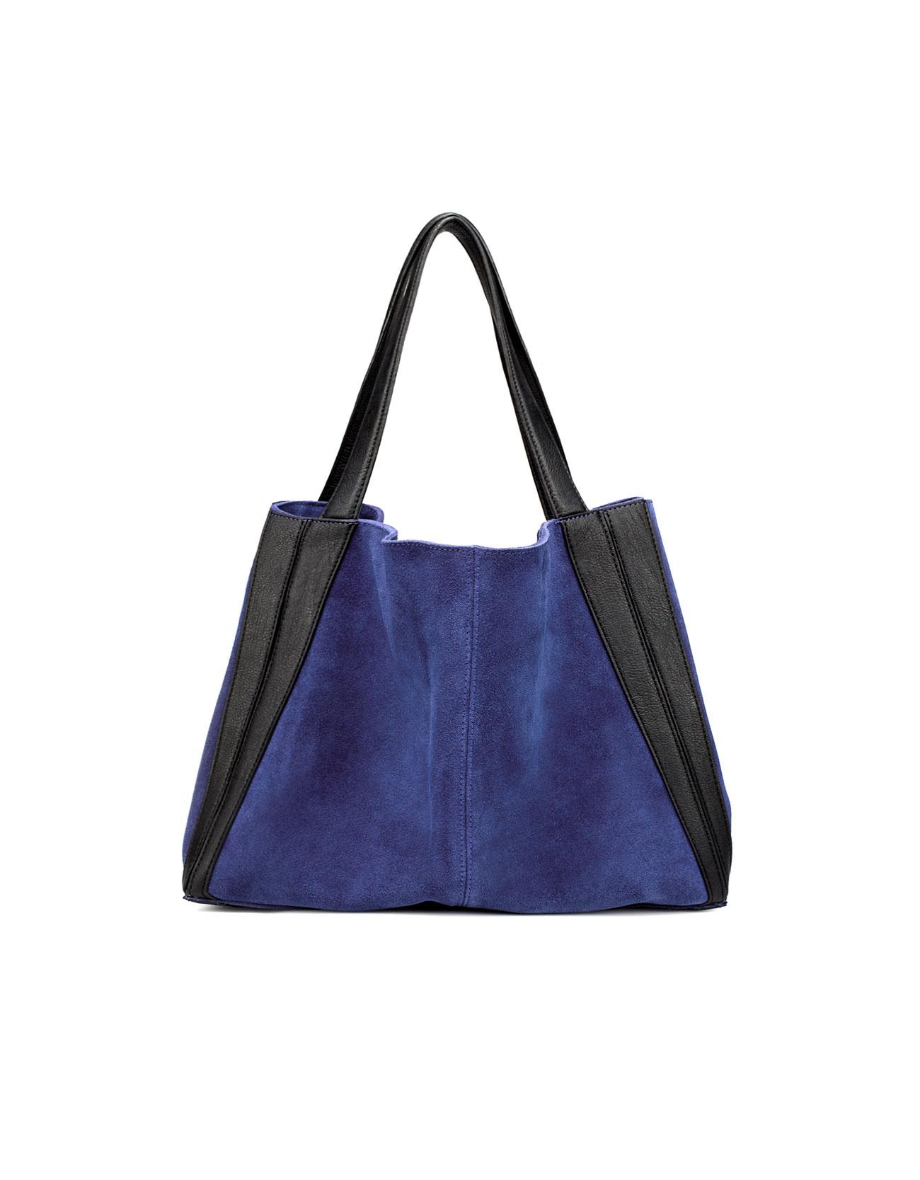 Zara Suede Handbag in Blue | Lyst