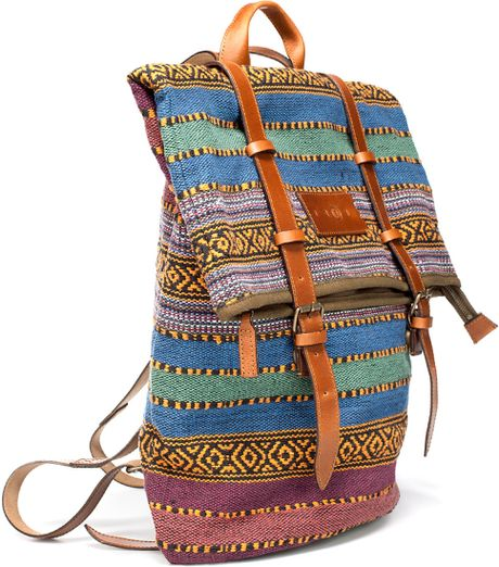 Zara Ethnic Fabric Backpack In Brown For Men Lyst