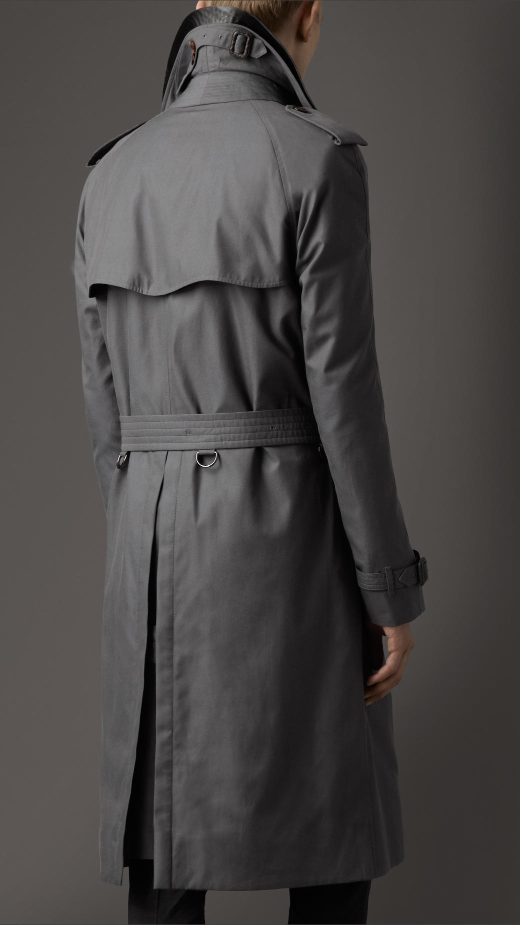 Lyst Burberry Long Cotton Gabardine Alligator Collar